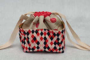MINI WEE BRAW BAG (5) | ready to ship | compact sock project bag / notions pouch