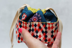 MINI WEE BRAW BAG (9) | ready to ship | compact sock project bag / notions pouch