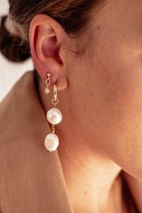 Willa Large Pearl Hoops