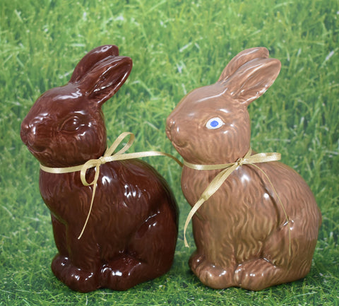 "Ceramic ""Chocolate"" Easter Bunny"