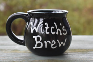 Witch's Brew Cauldron Coffee Mug
