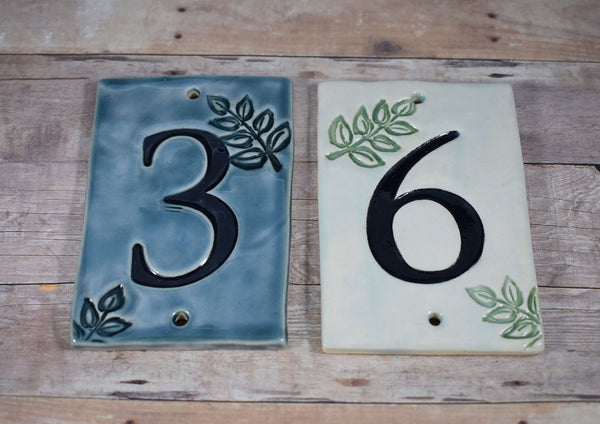 Leaf House Numbers