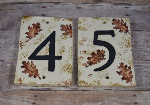Oak Leaf House Numbers