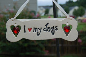 "Sun Catcher ""I Love My Dog(s)"""