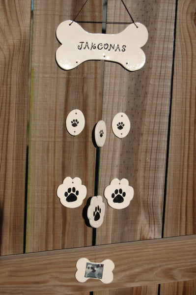 I Love My Dog Wind Chime