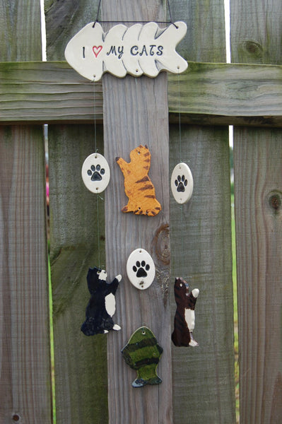 Playful Kitties Wind Chime