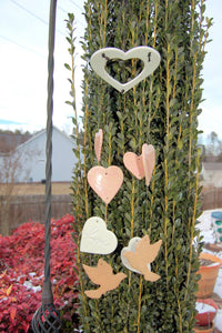 "Handcrafted ""Thoughts of Love"" Wind Chime"