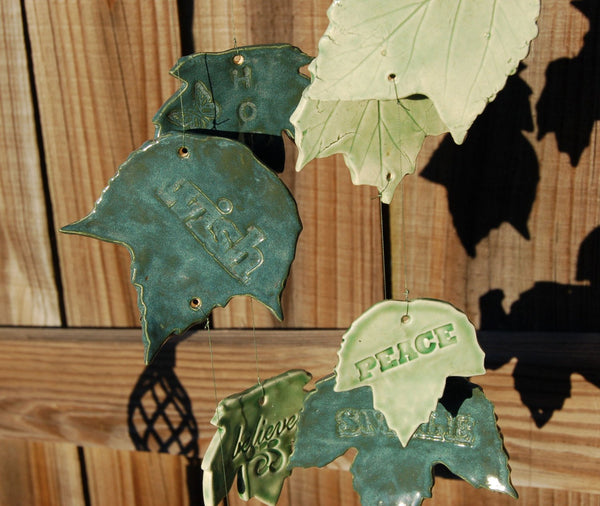 "Handcrafted ""Inspiring Thoughts"" Wind Chime"