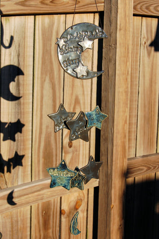 Grandma's Shining Stars Custom Family Ceramic Wind Chime