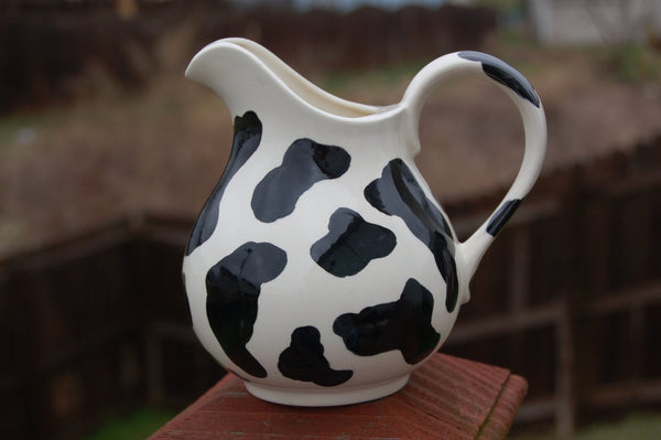 "Cow Pattern ""You Look Mooooohvelous"" Cream Pitcher"