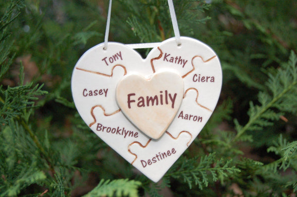 Family Puzzle Heart
