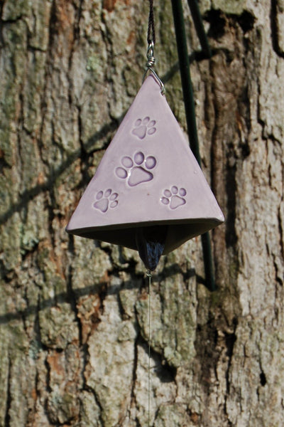 Lavender Paw Print Wind Bell