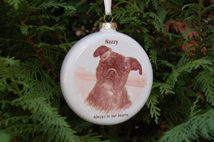 Pet Photo Ornament, 3 inch Round Ornament