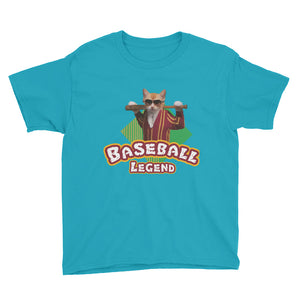 Baseball Legend Youth Short Sleeve T-Shirt is designed specially to showcase your love for your feline pet and gives your the best experience, premium grade ${product_type