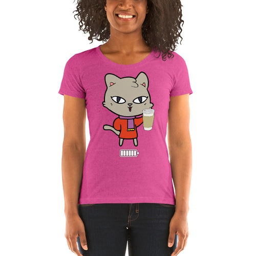 coffee time Ladies' short sleeve t-shirt is designed specially to showcase your love for your feline pet and gives your the best experience, premium grade ${product_type