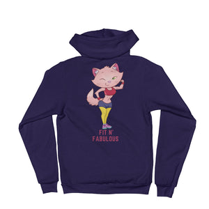 Fit Fabulous Lady Hoodie sweater is designed specially to showcase your love for your feline pet and gives your the best experience, premium grade ${product_type