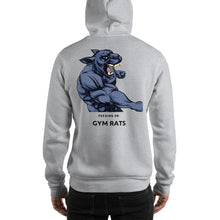 Load image into Gallery viewer, Beast Feeding on Gym Rats Hooded Sweatshirt is designed specially to showcase your love for your feline pet and gives your the best experience, premium grade ${product_type