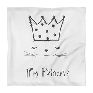 Princess Cat Pillow Case