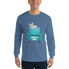 Load image into Gallery viewer, Floor is Lava Long Sleeve T-Shirt is designed specially to showcase your love for your feline pet and gives your the best experience, premium grade ${product_type