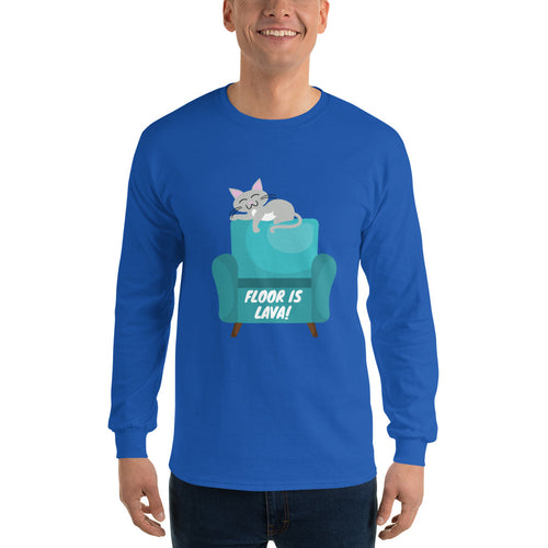 Floor is Lava Long Sleeve T-Shirt is designed specially to showcase your love for your feline pet and gives your the best experience, premium grade ${product_type