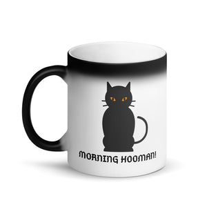 Scary Cat Matte Black Magic Mug
