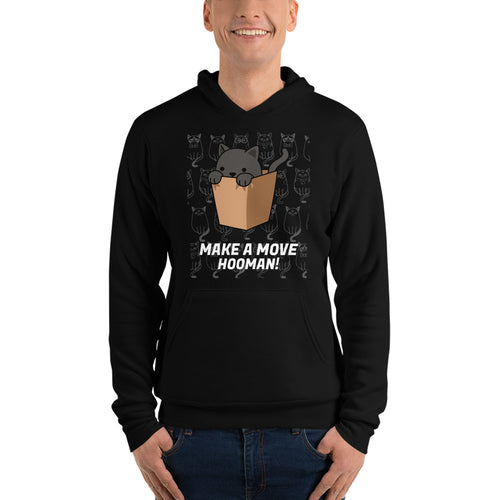 Make A Move Unisex hoodie is designed specially to showcase your love for your feline pet and gives your the best experience, premium grade ${product_type