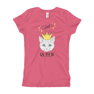 Little Queen Girl's T-Shirt is designed specially to showcase your love for your feline pet and gives your the best experience, premium grade ${product_type