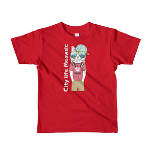 City Meowsic Short sleeve kids t-shirt 2yrs-6yrs is designed specially to showcase your love for your feline pet and gives your the best experience, premium grade ${product_type