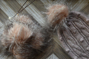 Whimsical Pom Poms | Faux Fur | Pink Creature