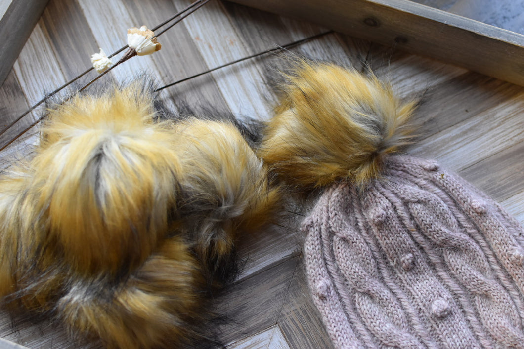 Whimsical Pom Poms | Faux Fur | Fox