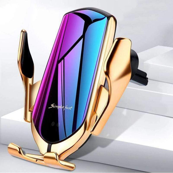 "LUXINI For iPhone | Gold The Re-Engineered Qi Certified Car Phone Holder & Wireless Charger <img src=""https://i.ibb.co/WvTkg06/PRODUCT-REVIEWS-Car-Holder-Phone-Charger.jpg"" auto="""" width:="""" max-width:="""" height:=""""> <p>"