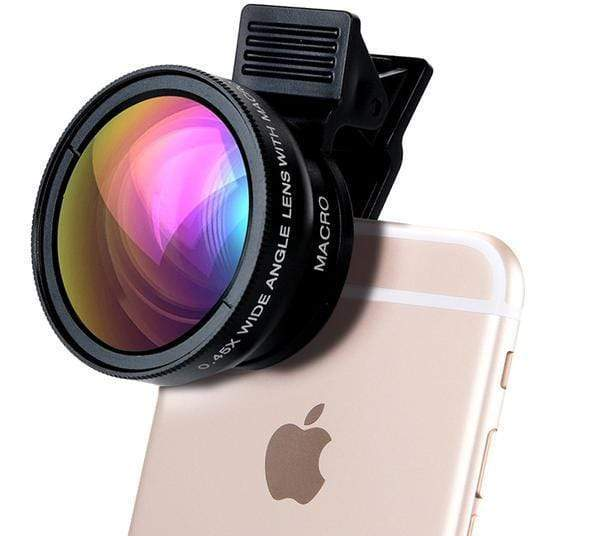 "LUXINI Complete Kit LuxPRO Universal HD Professional Camera Lens for iPhone & Mobile Devices | 12.5X Macro Lens + 0.45X Wide Angle <img src=""https://i.ibb.co/MnXQdMz/PRODUCT-REVIEWS-Lux-PRO-Universal-HD-Lens.jpg"" auto="""" width:="""" max-width:="""" height:=""""> <p>"