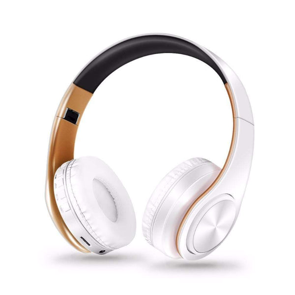 "LUXINI Gold White Studio Air One | Bluetooth Wireless Stereo Headset With Microphone <img src=""https://i.ibb.co/MRmY41b/PRODUCT-REVIEWS-Studio-Air-One-Headset.jpg"" auto="""" width:="""" max-width:="""" height:=""""> <p>"