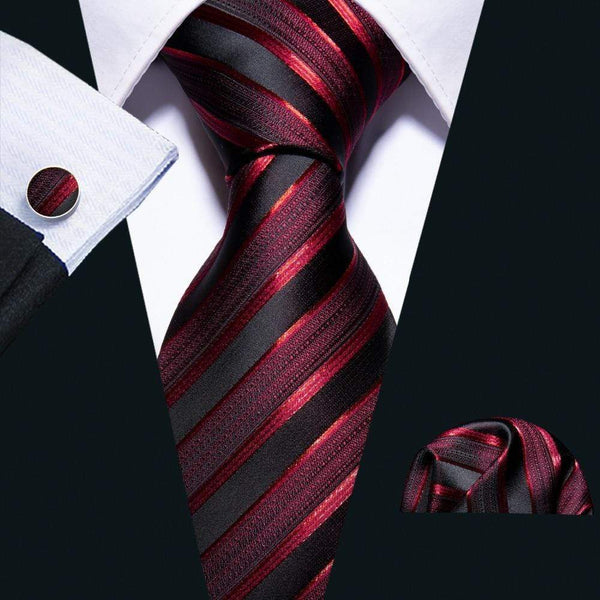 "LUXINI Complete Tie Set The Conqueror | Men's Designer B.W. Tie, Handkerchief, & Cufflinks <img src=""https://i.ibb.co/BTDDjH3/PRODUCT-REVIEWS-The-Conqueror-v3.jpg"" auto="""" width:="""" max-width:="""" height:=""""> <p>"
