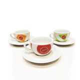 Gaggia Collection Exclusive 6x6 Espresso Cups and Saucer Set
