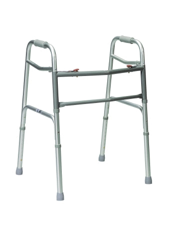 Bariatric Junior Dual Release Folding Walker drive™ Aluminum Frame 500 lbs. Weight Capacity 25 to 32 Inch Height