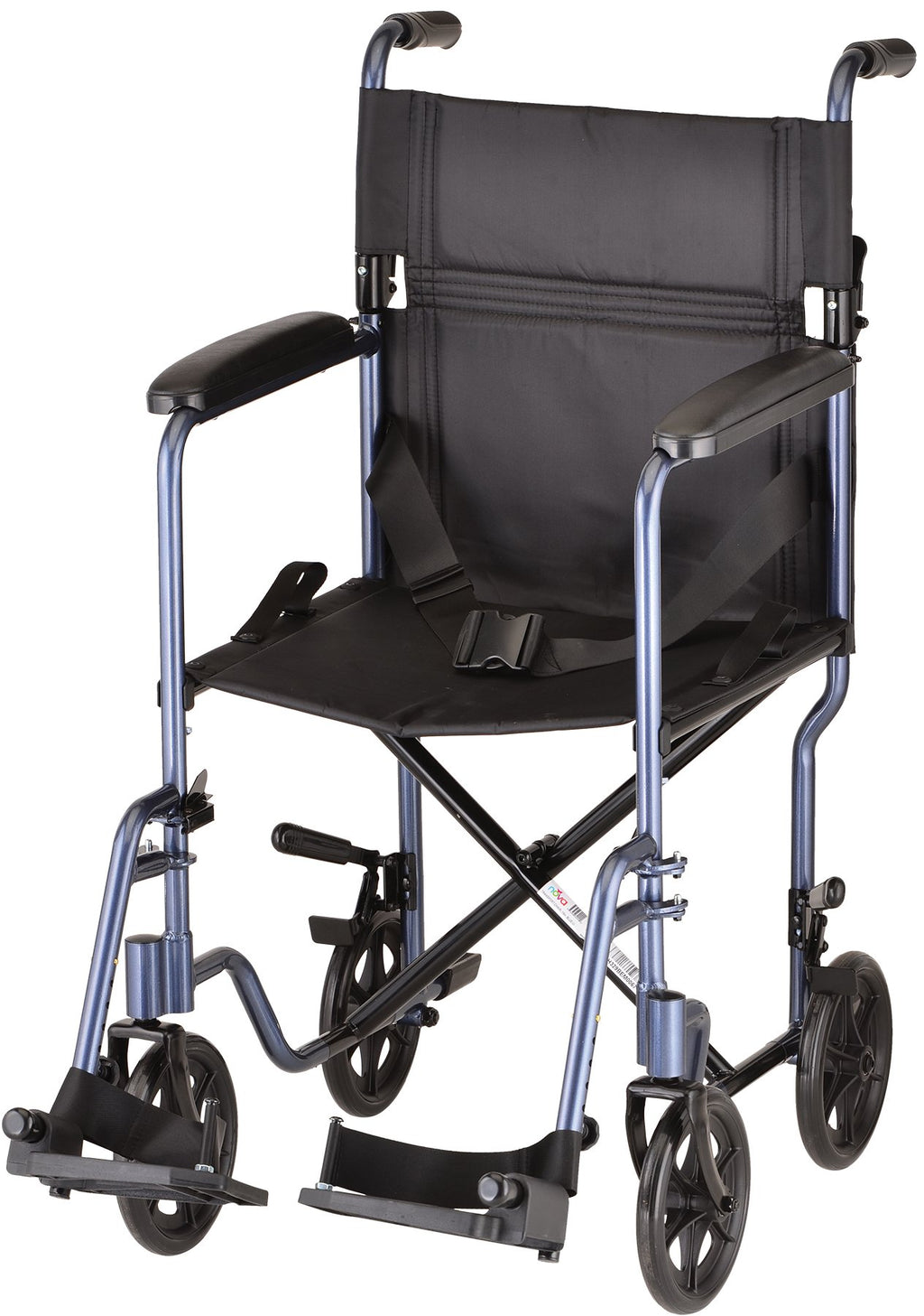 "TRANSPORT CHAIR 19"" LIGHTWEIGHT FULL LENGTH ARMS"