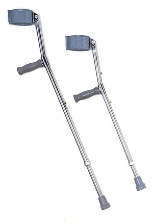 ADULT FOREARM CRUTCHES STANDARD  CUFF DIAMETER 3.5""
