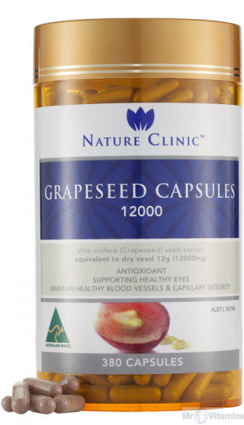 Nature Clinic Grapeseed - 12000mg - 380 Capsules