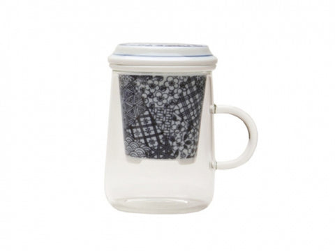Tea glass with infuser