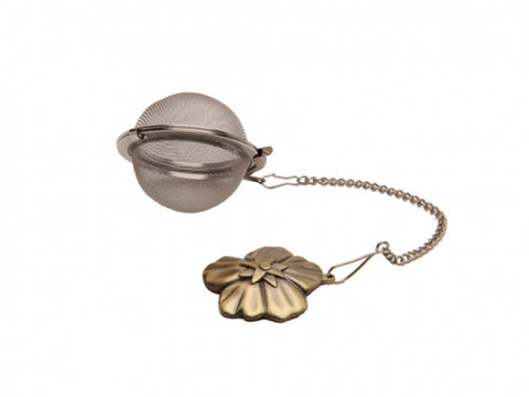 Tea Ball Infuser on Chain (Flower Handle)