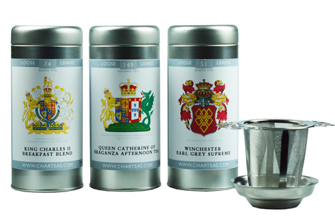 Coat of Arms Tea Collection with Infuser