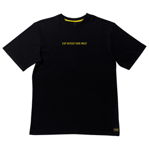 T-shirt Embroidered Tagline Preto