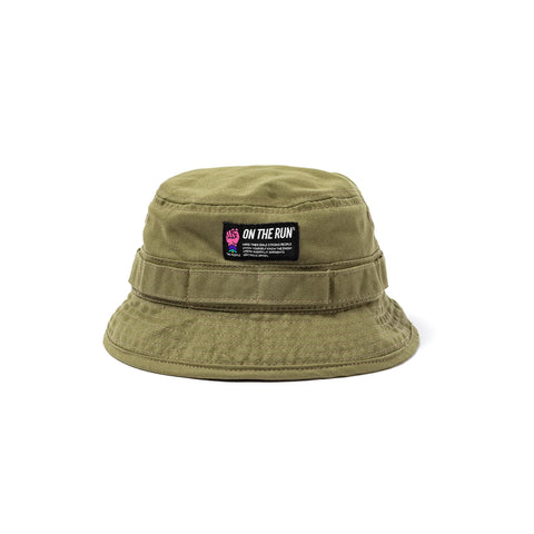 ON THE RUN | Bucket Hat Military Green