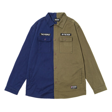 ON THE RUN | Light Jacket [Navy Blue - Military Green]