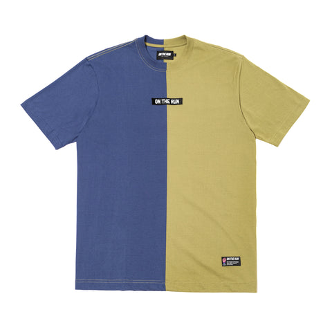 ON THE RUN | Camiseta 50-50 [Navy Blue - Military Green]