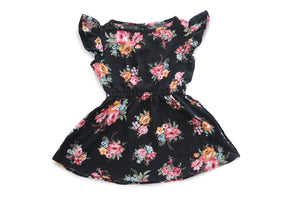 Childrens floral fit and flare dress
