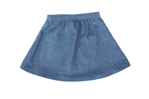 Mila James Denim Reversible Skirt