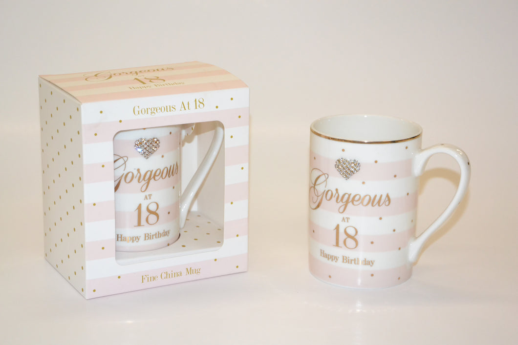 'Gorgeous at 18 Happy Birthday' Mug