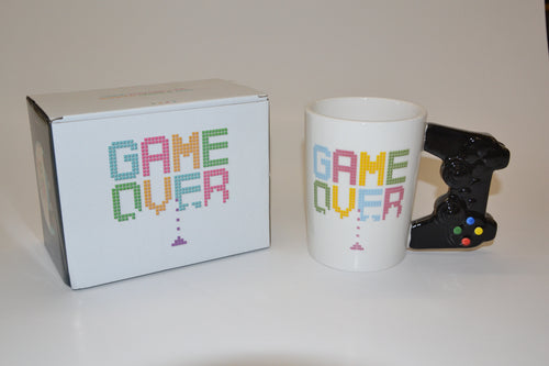 Game Over Shaped Handle Mug